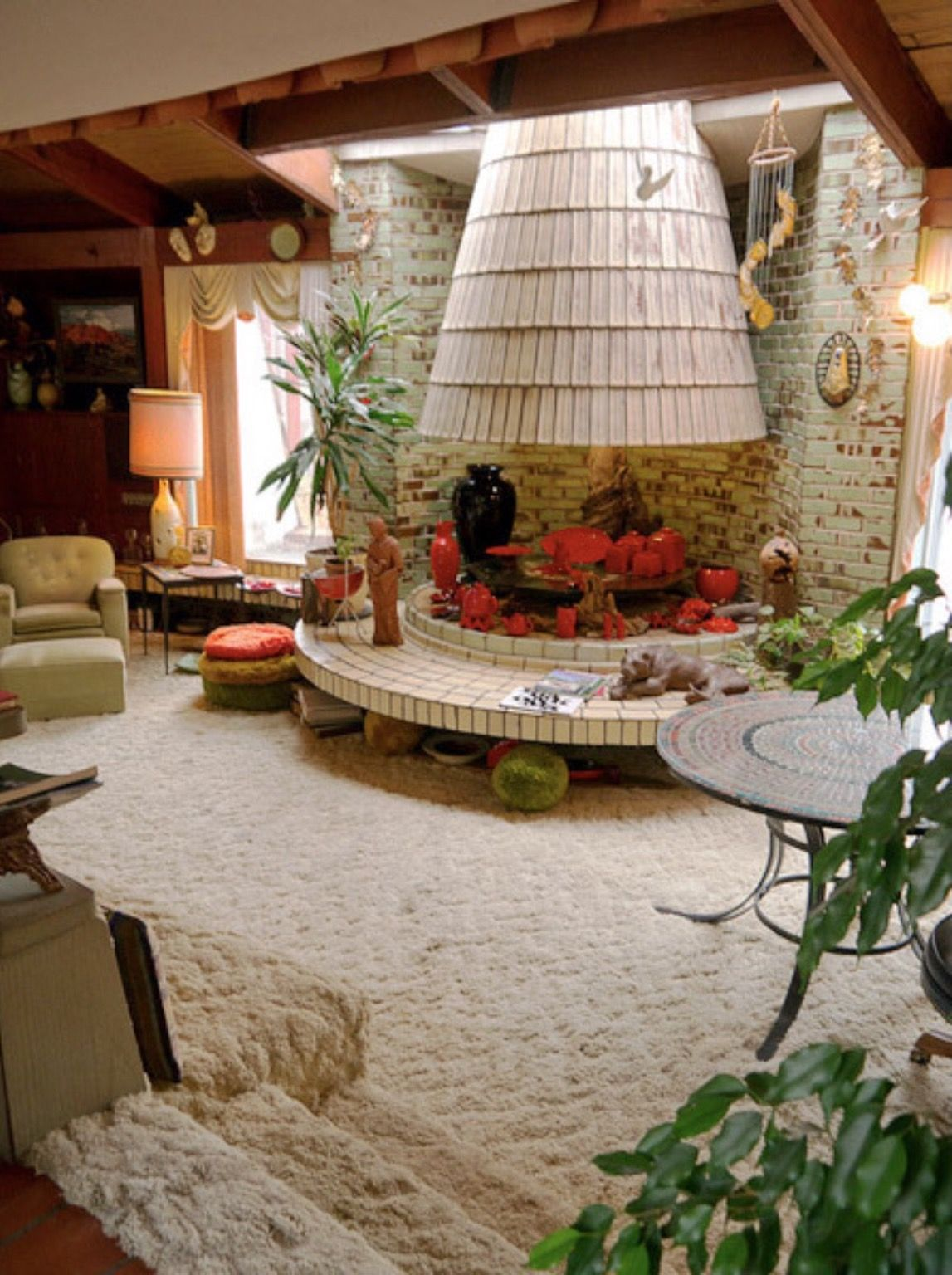 Cool Sunken Living Room Ideas For Your Dreamed House: Retro Home Decor, Mid Century House, 70s Home Decor