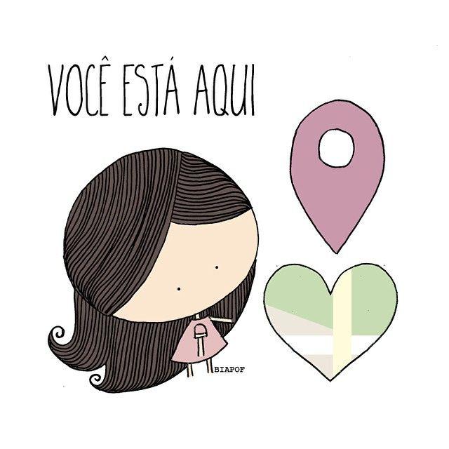 No gps do amor, eu sei onde te encontrar ❤️✨ #biaPOF #diadosnamorados