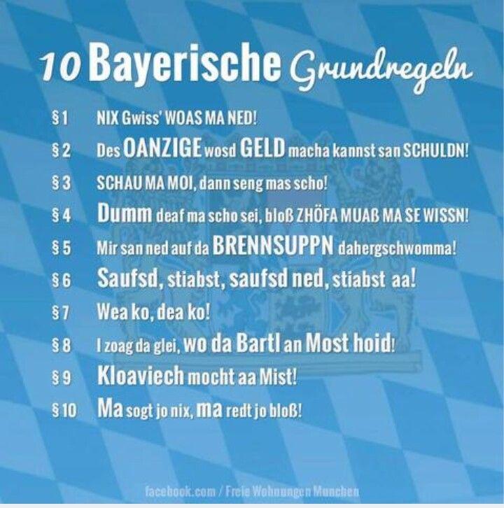 10 Bayrische Grundregeln Bayerische Sprüche Bayrische Sprüche Sprüche