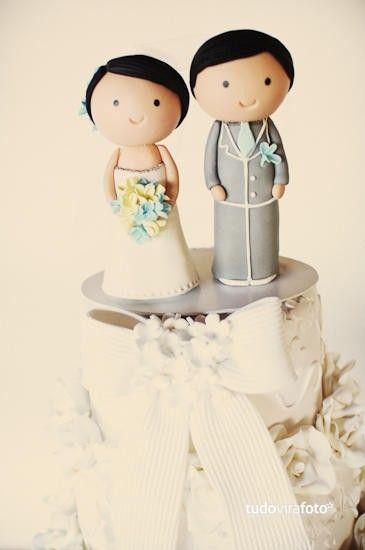 Noivinhos de topo de bolo super delicados!