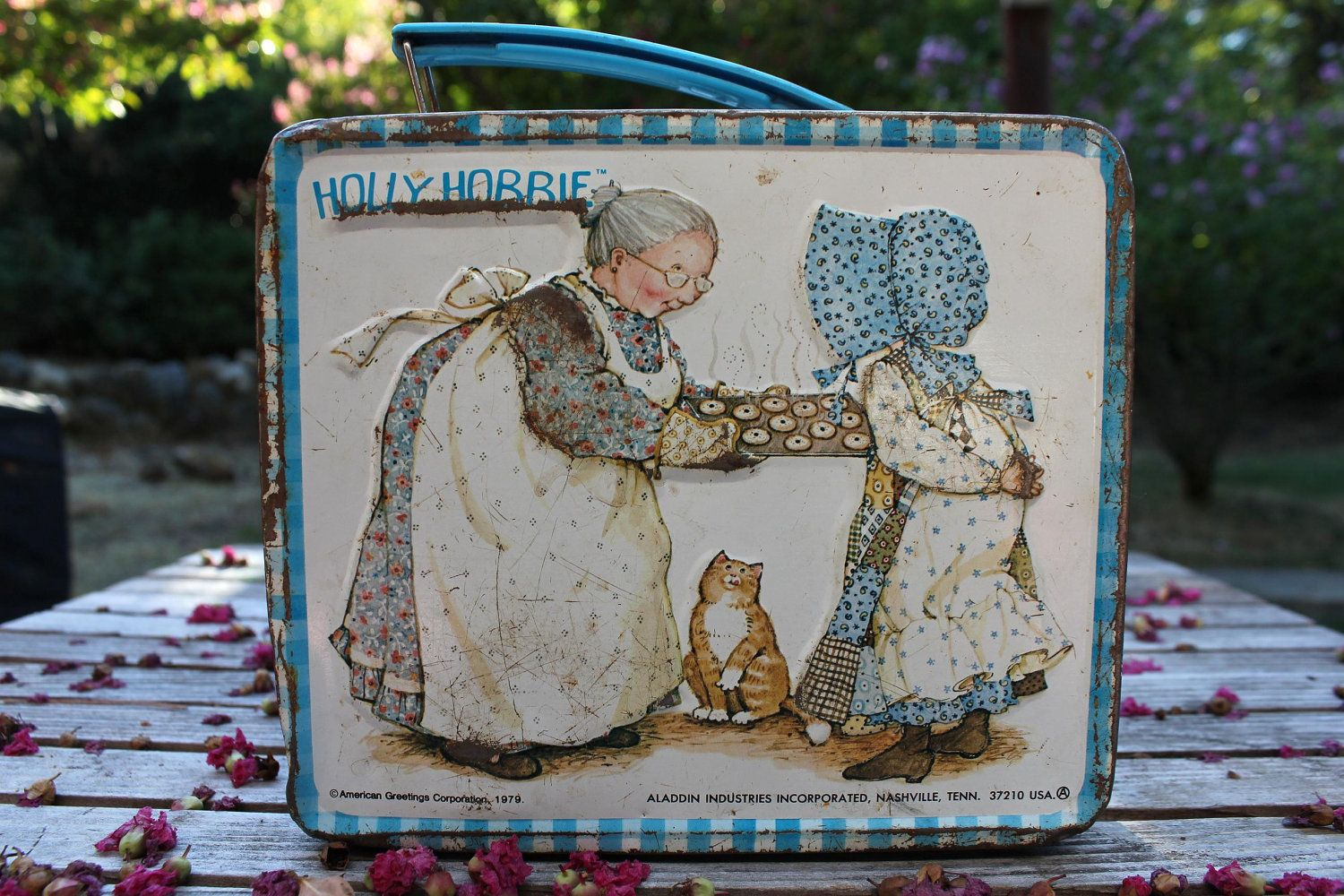 Holly Hobbie Lunchbox 1979 by Aladdin by CatHouseVintage on Etsy