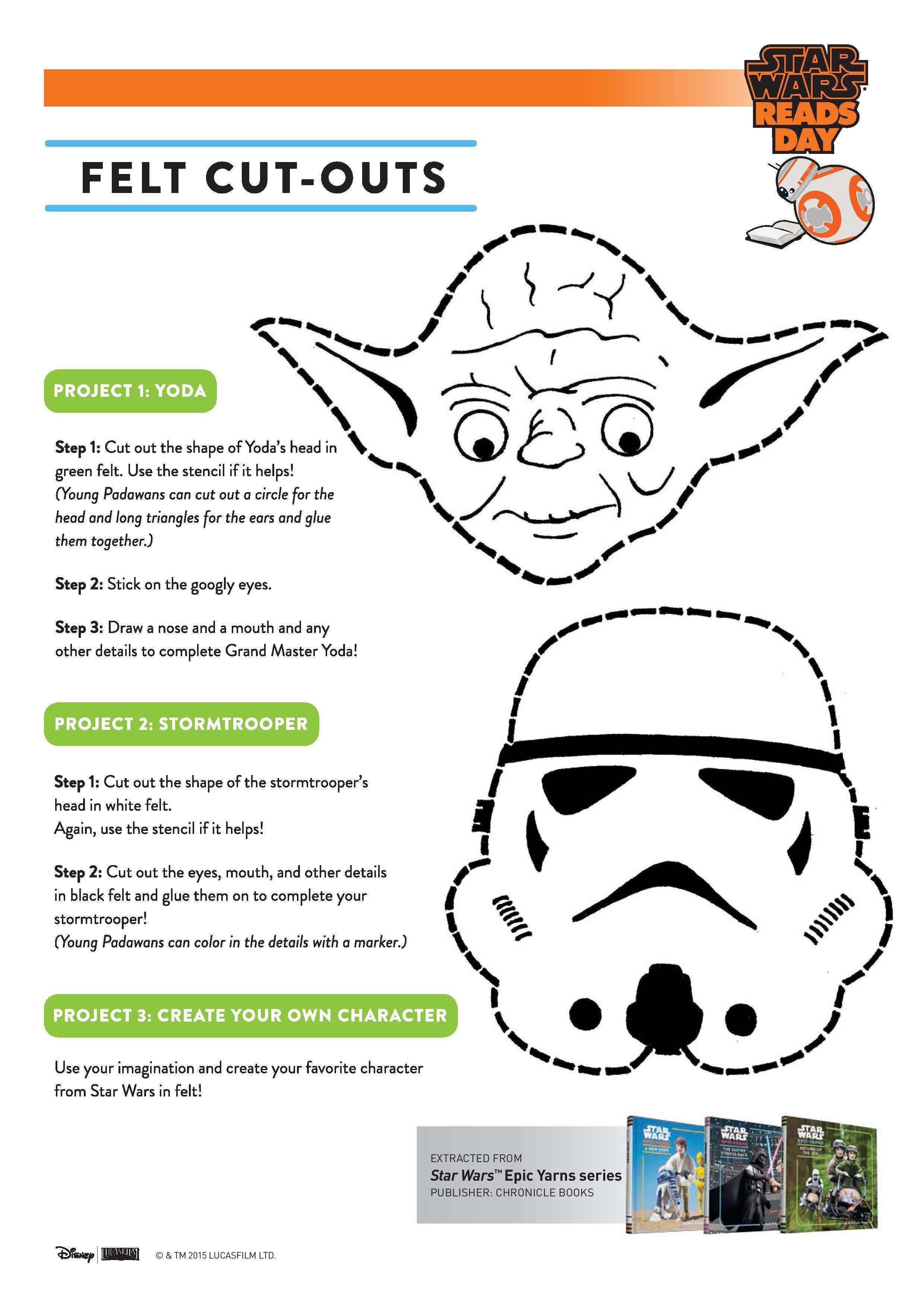 Printable Star Wars Activity Sheets | Fieltro, Paños y Curiosidad