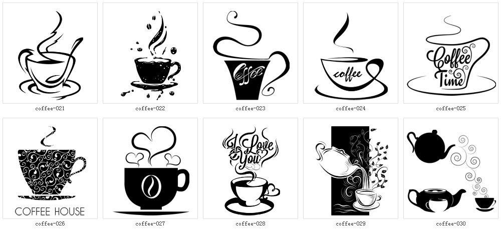 モノクロ 白黒 イラスト素材全集 コーヒー 珈琲 イラスト イラスト ロゴデザイン