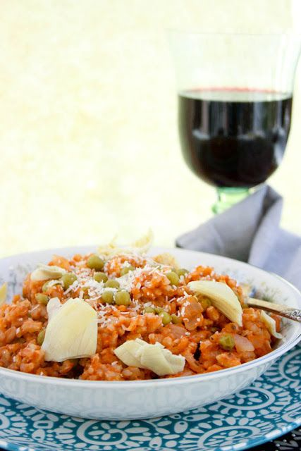 Baked Farro with Artichoke and Peas
