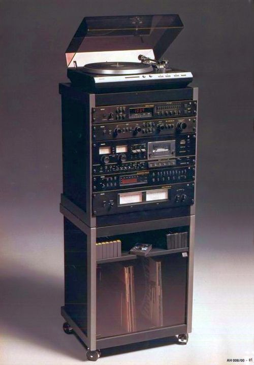 Merveilleux PHILIPS Black Tulip   The Rack Systems | The Stereo Museum
