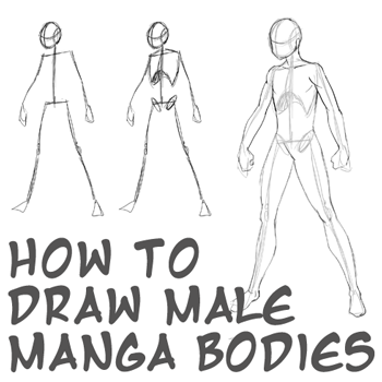How to draw anime body with tutorial for drawing male manga bodies how to draw