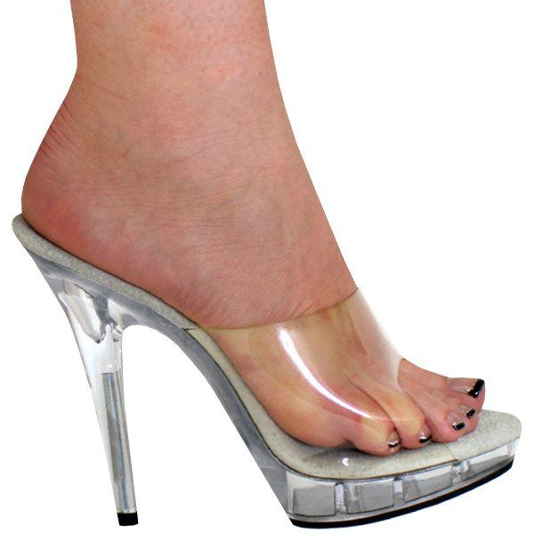 8bd58d435b3 Karo Shoes - Clear 5 Inch Stiletto Heels
