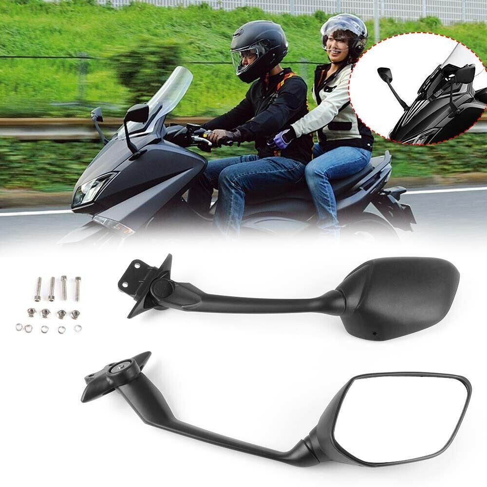 Pair Black Teardrop Racing Mirrors For Harley Street Glide Road Glide