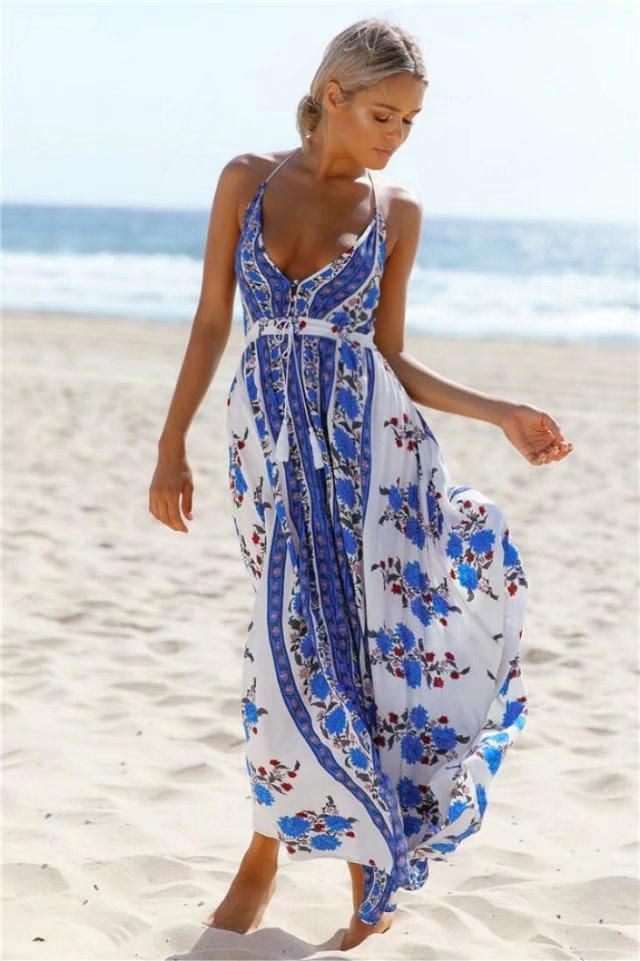 3778d00cff659 2018 hot sale printing dress strapless backless long dress wrapped ...