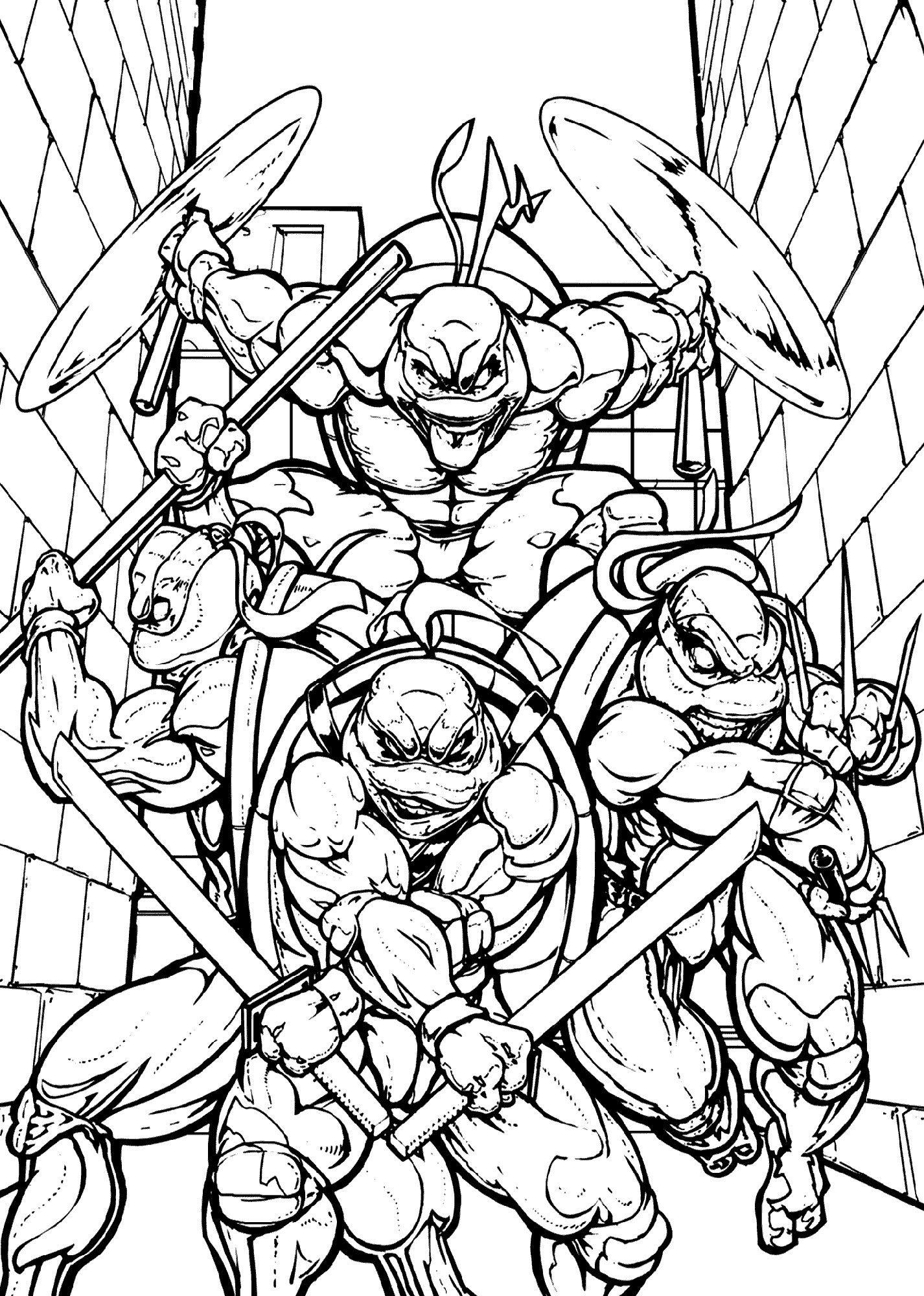 Teenage Mutant Ninja Turtle Coloring Page Youngandtae Com In 2020 Ninja Turtle Coloring Pages Turtle Coloring Pages Ninja Turtles