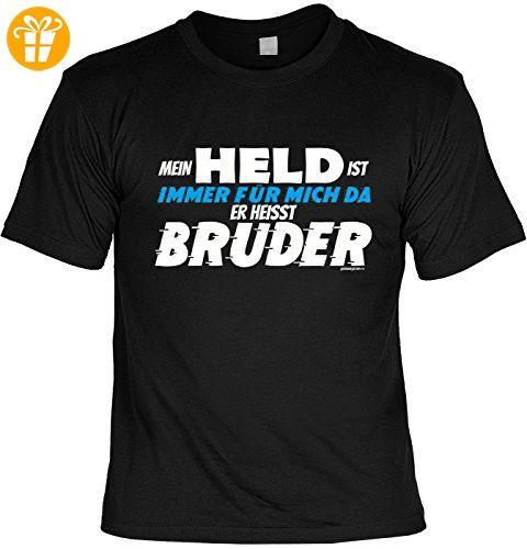 Bruder Sprüche Tshirt - cooles T-Shirt Bruder : Mein Held …. heisst Bruder  -- Geschenk T-Shirt Bruder Geburtstag Gr: XL - T-Shirts mit Spruch |  Lustige und ...