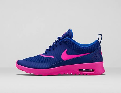 nike air max thea blauw roze