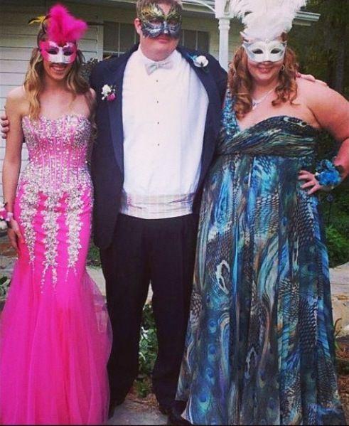 Jovani Jovani dresses at a Masquerade themed prom! Perfect ...