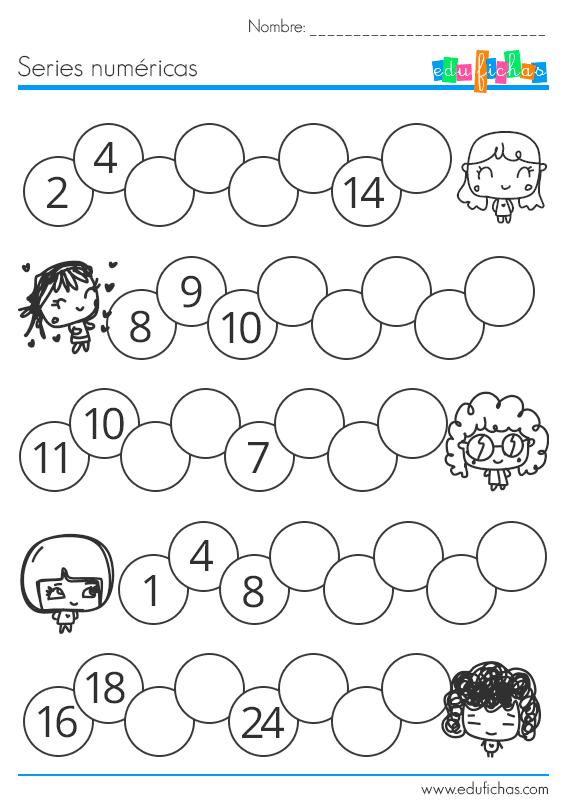 ejercicio series numericas para niños #numeros #