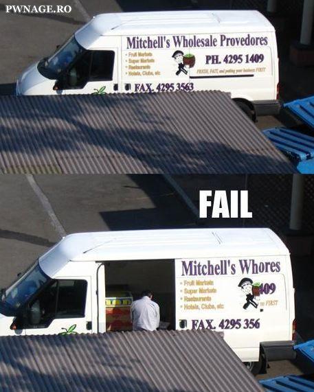 The ultimate van fail.