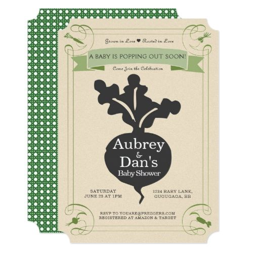 Seed Packet Baby Shower Invitation | Zazzle.com