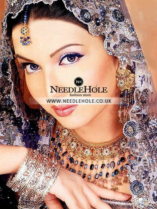 Hand made Indian Pakistani bridal jewelry for wedding and engaement. Order online on http://www.needlehole.co.uk