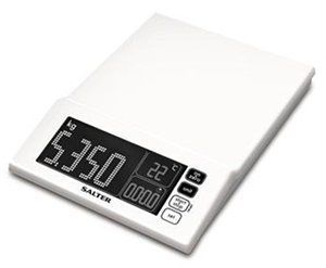 Salter Maxview Aquatronic Scale Maxview White By Salter 70 00 Colour Pattern White Thi Electronic Kitchen Scales Kitchen Measuring Tools Kitchen Scale