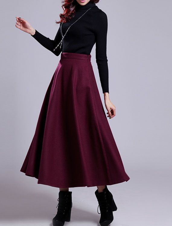 warm skirt Walk skirt with ring and in several colors! winter skirt wool skirt