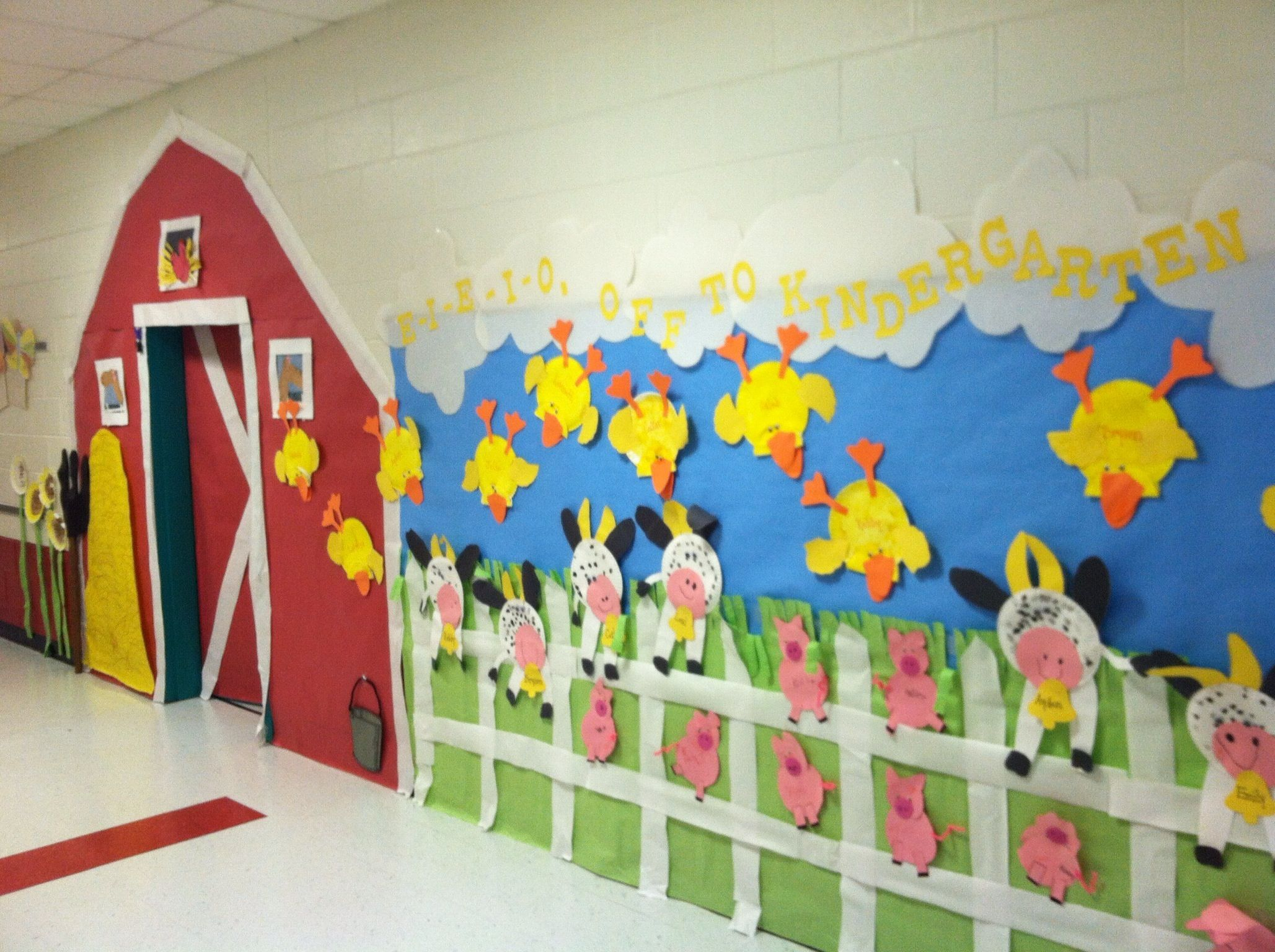 Art craft ideas and bulletin boards for elementary schools vegetable - Farm Animal Bulletin Board Idea For Kids