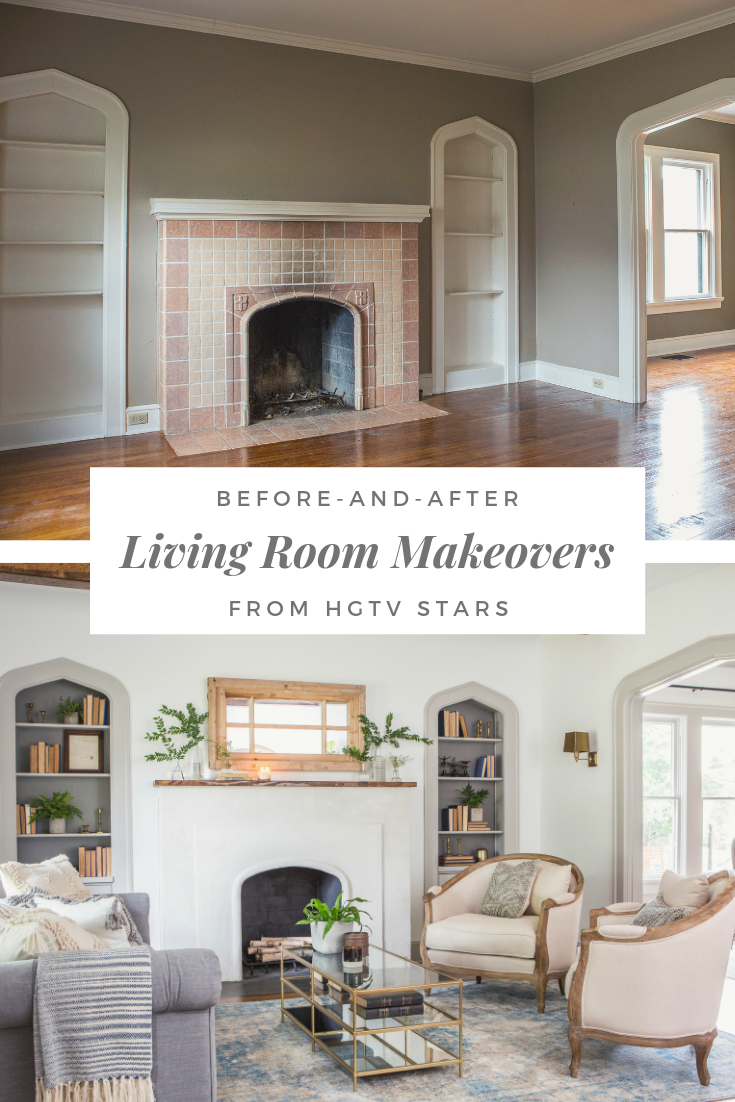 25 Incredible Living Room Makeovers From Hgtv Pros Hgtv Living