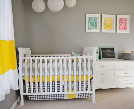decorar habitacin beb moderna amarilla