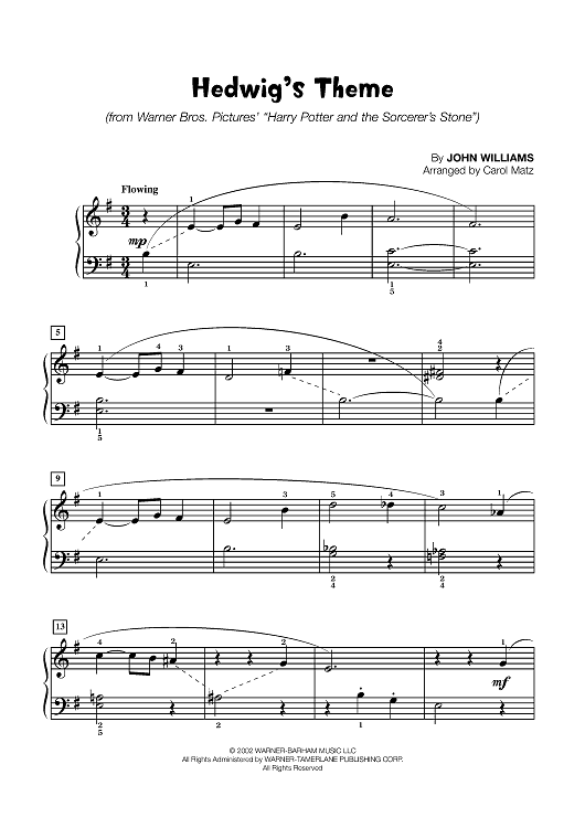 Hedwig S Theme Late Elementary Piano Easy Violin Sheet Music Piano Sheet Music Piano Sheet Music Free