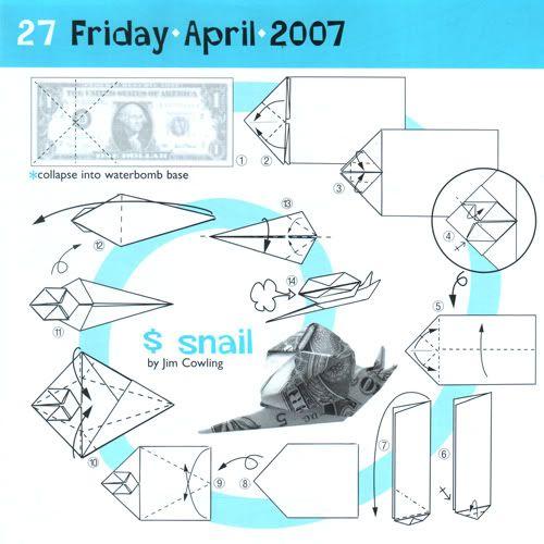 Magnificent Origami Snail Instructions Ori Got Me Folding Origami Dollar Wiring 101 Capemaxxcnl