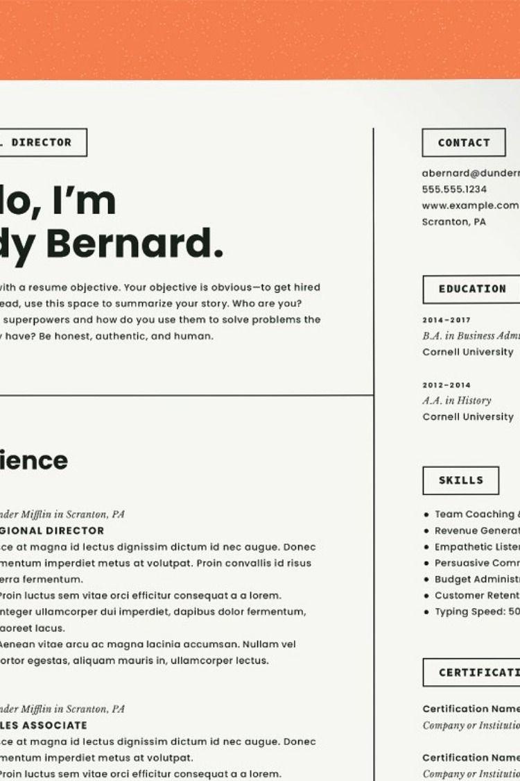 Modern resume template cv cover letter for resume