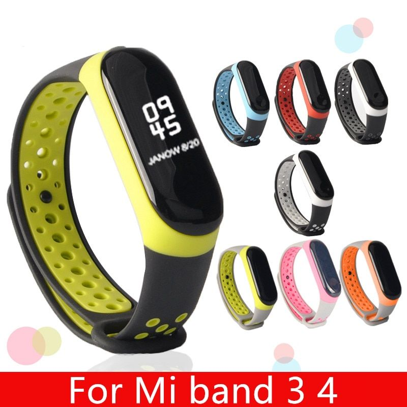 For Mi Band 3 4 5 Strap Sport Silicone Watch Wrist Bracelet Miband Strap Accessories Bracelet Smart Accessories Bracelets Silicone Bracelets Replacement Straps