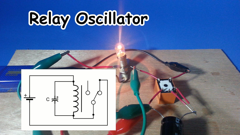 hight resolution of simple relay oscillator