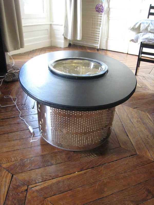 une table basse pour mailys avec un tambour de machine laver cr ations et bricolages d 39 oli. Black Bedroom Furniture Sets. Home Design Ideas