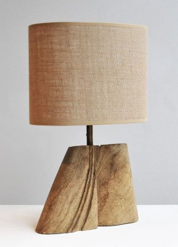 Carved stone table lamp by albert tormos
