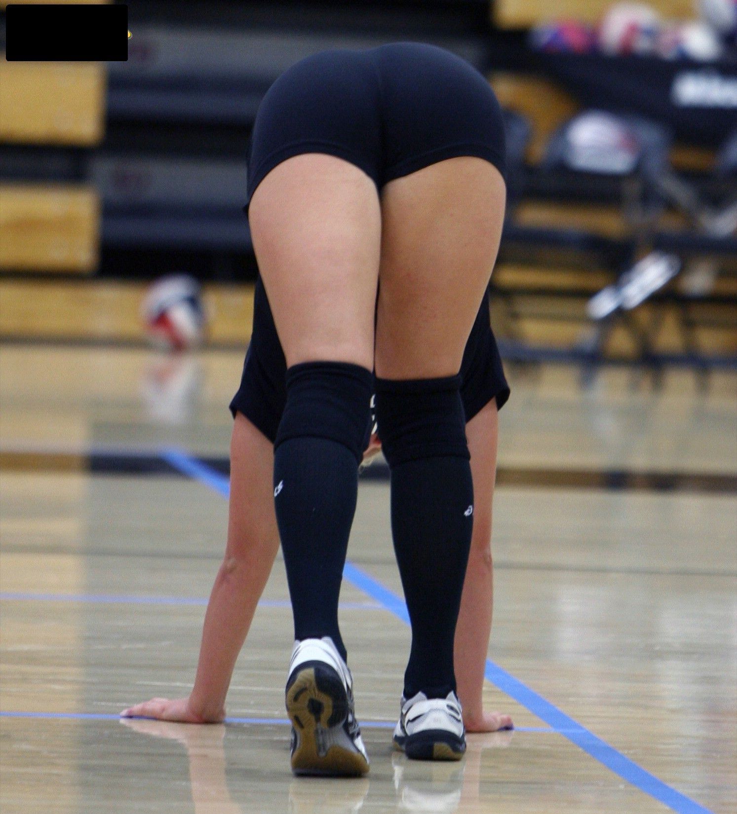 Girls in volleyball shorts pantie lines — 6