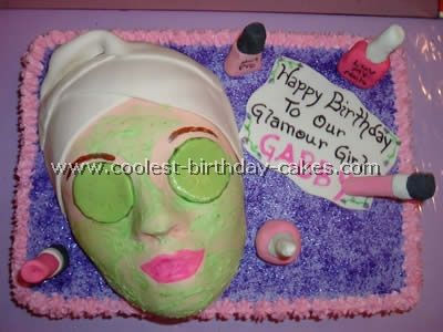 Looking for the Coolest Birthday Cakes to Make Spa party Spa