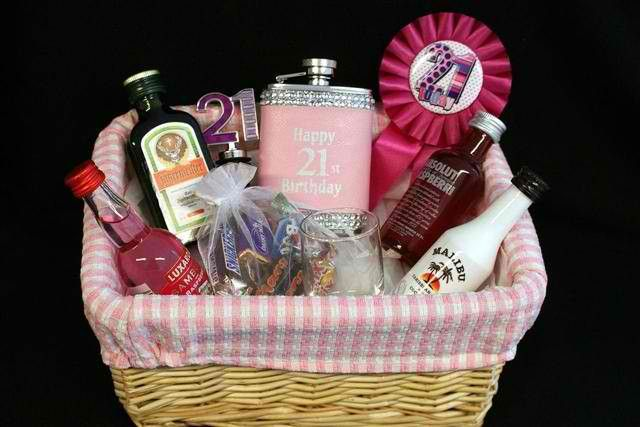 Birthday Gifts For 21 Year Old Women 21st Birthday Gifts For Girls 21st Birthday Gifts 21st Birthday Basket