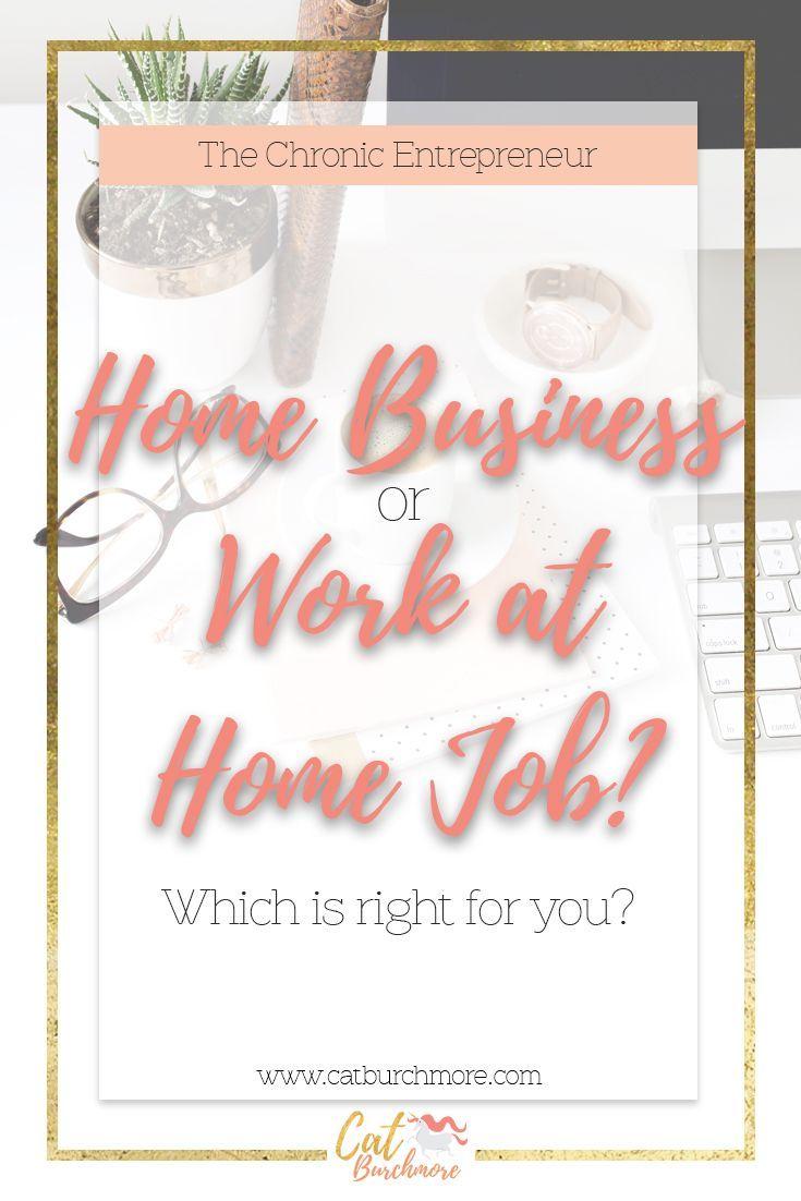 Home Business or Work at Home Job | Entrepreneur | Chronic ...