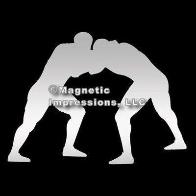 Wrestler Car Magnet