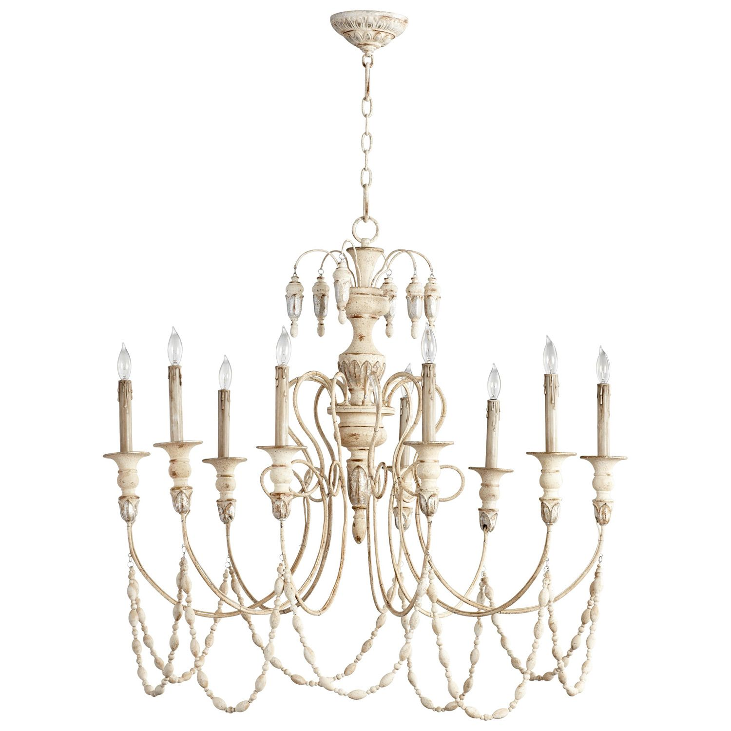 Florine Chandelier LaylaGrayce Persian white with silver