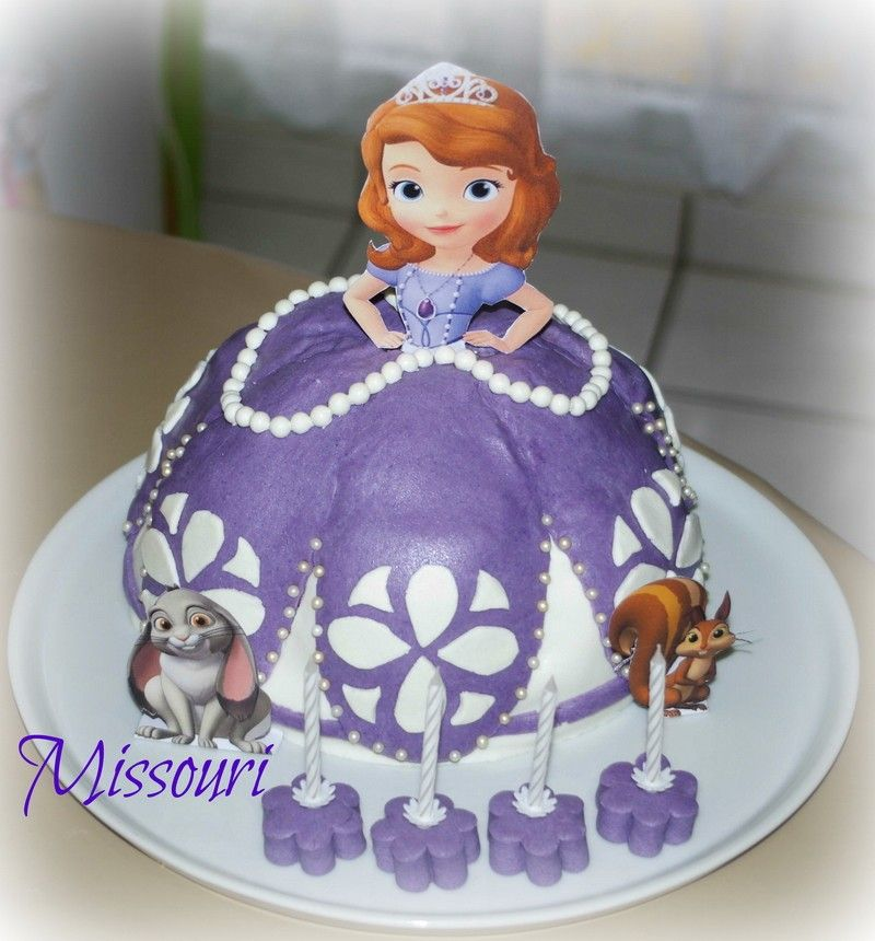 decoration gateau princesse sofia