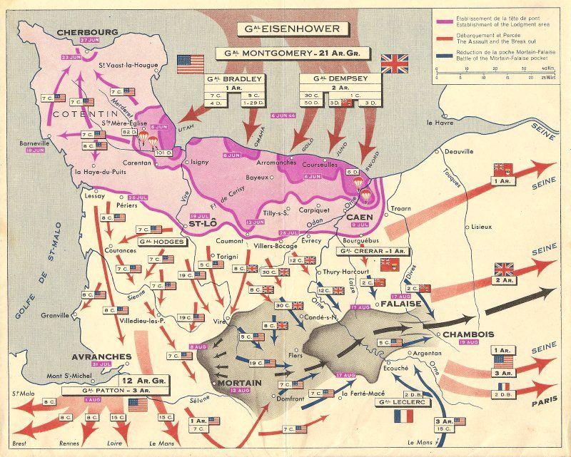 6 Juin 1944 Carte Michelin De La Bataille De Normandie Bataille De Normandie Carte Michelin Debarquement En Normandie