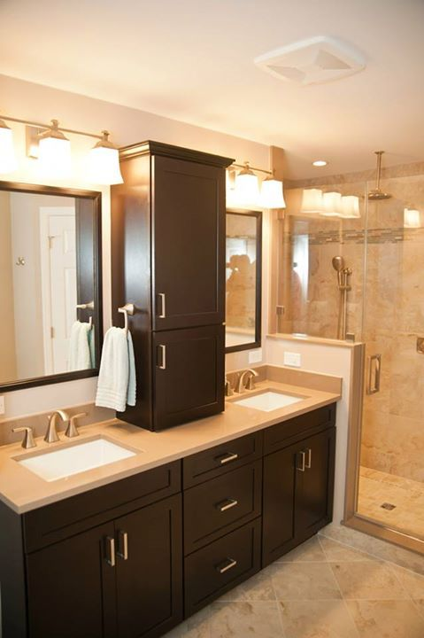 Colonial Home S Modern Master Bath Renovation Modern Master