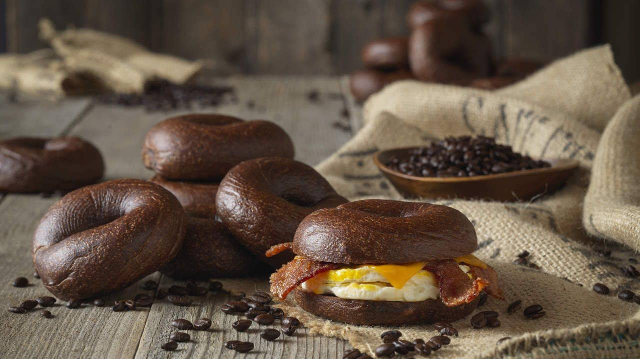 Here's What Einstein Bros.' New Caffeinated Bagels Actually Taste Like