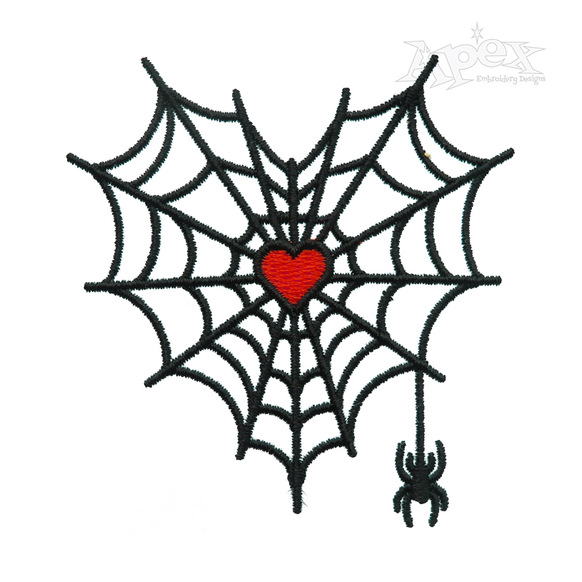 Spider Web Heart Embroidery Design Embroidery Designs Halloween Embroidery Designs Halloween Embroidery