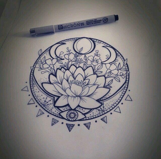 Flor De Loto Mandala Dibujo Tattoo Tatuajes De Moda Brazos Tatuados Tatuajes Mandalas