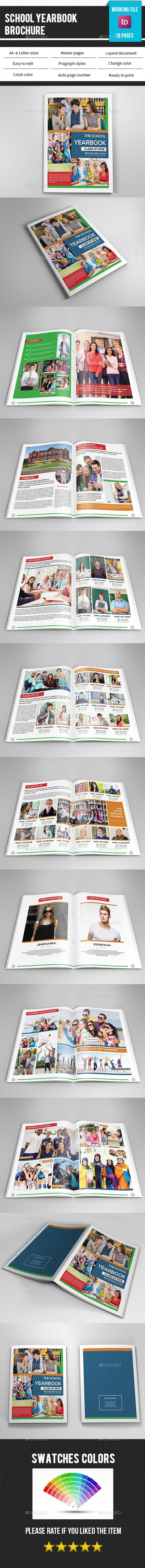 School Yearbook Template-V337 | Pinterest