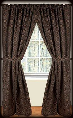 Primitive Lover S Knot Jacquard Fully Lined Curtains