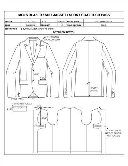 Fashion Apparel Tech Pack Templates My Practical Skills My - Tech pack template