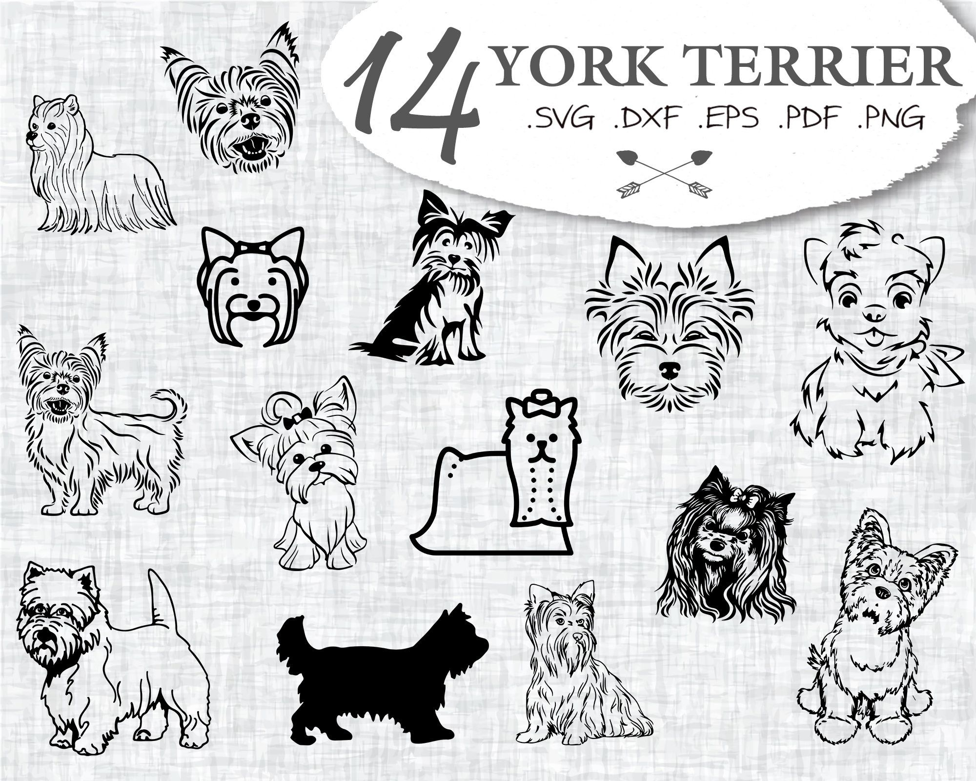 Yorkshire Terrier Dog Mama Monogram Frame SVG Cutting File
