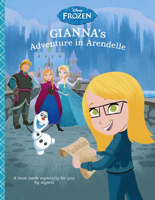 disney frozen adventure in arendelle personalized book gianna